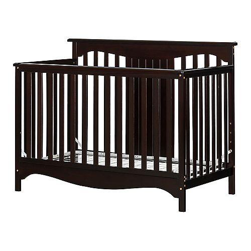 Savannah Baby Crib 4 Heights with Toddler Rail, Espresso