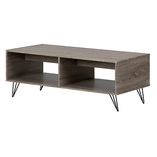Evane Coffee Table with Storage, Oak Camel
