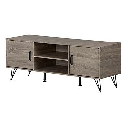 """Evane TV Stand with Doors for TVs up to 55"""", Oak Camel"""