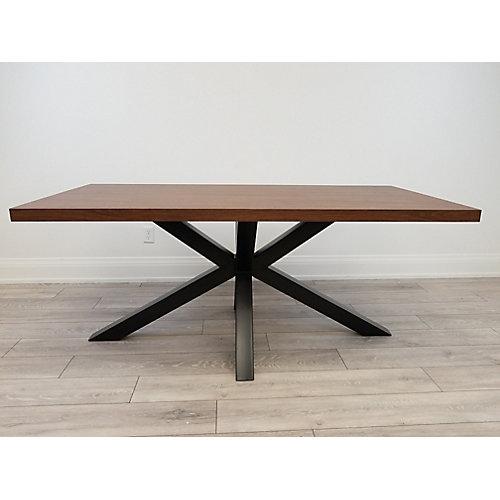 Erikson Chestnut Dinning Table, Black Legs