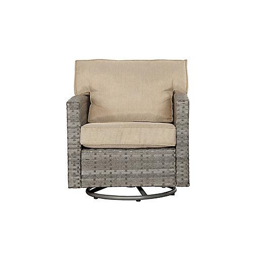 Chaise de patio pivotante en osier Rick - Set de 2