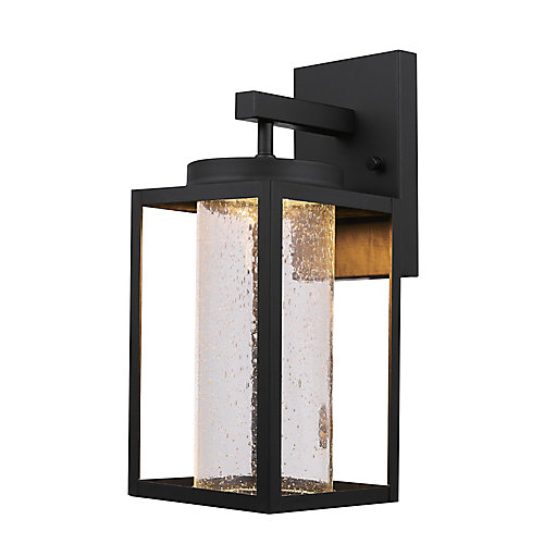 Capulet Black LED Integrated Outdoor Indoor Wall Sconce