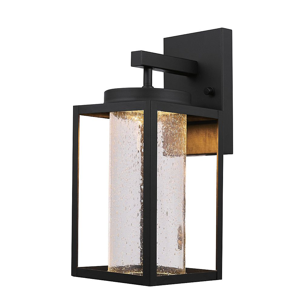 Globe Electric Capulet Black LED Integrated Outdoor Indoor Wall Sconce