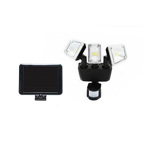 180 Degree Solar Motion Sensing Triple Lamp Security Light