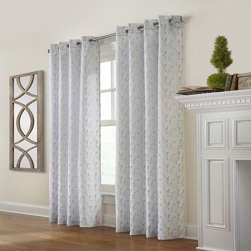 Habitat Arcadia rideau à oeillets jacquard filtre la lumière 132 cm x 160 cm gris