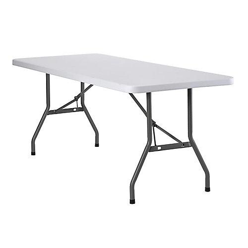 Table pliante en plastique blanc de 6 pi