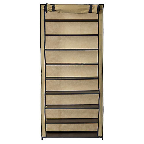 Shoe Organizer With Cover (30-Pair)