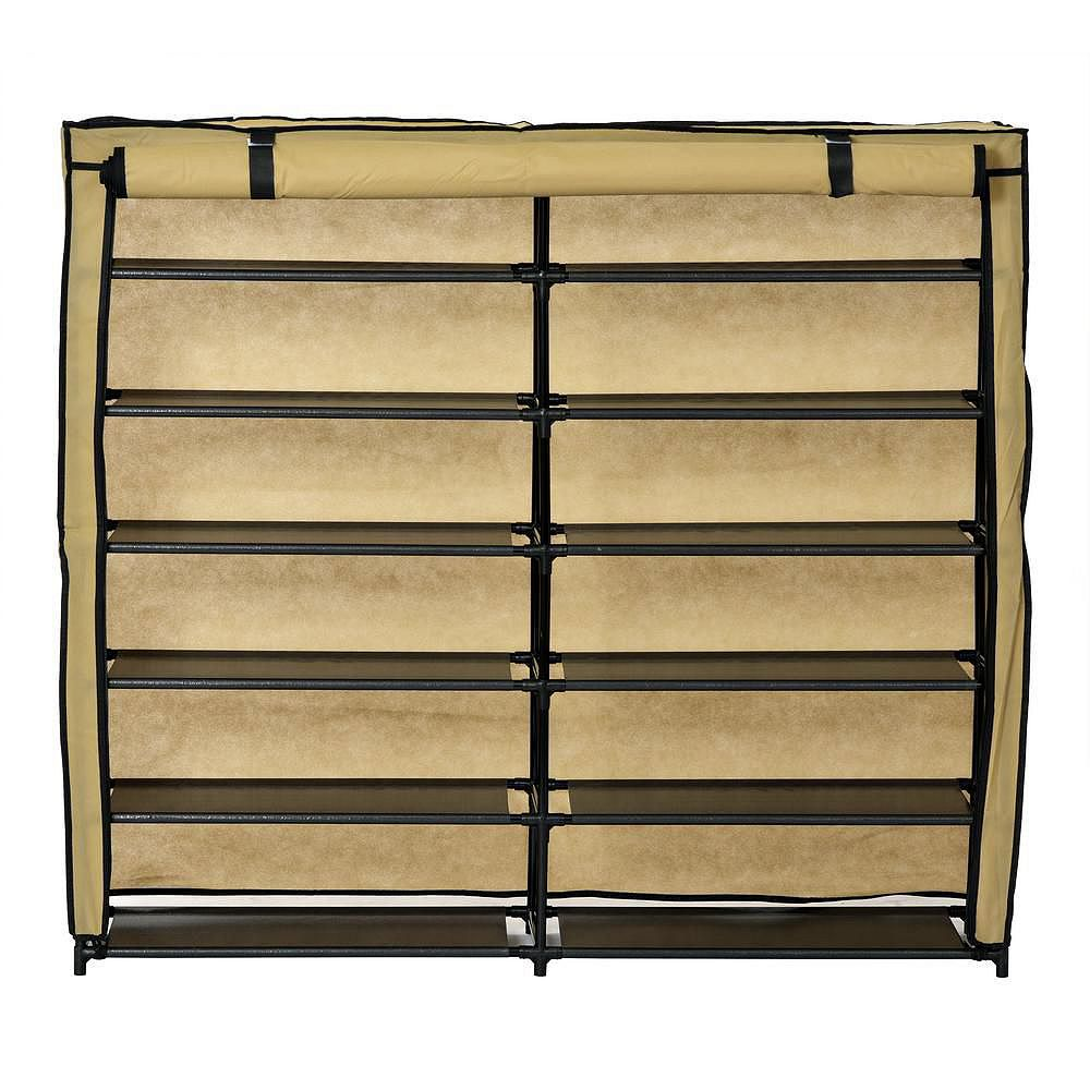 Muscle Rack Shoe Organizer With Cover (24-Pair)