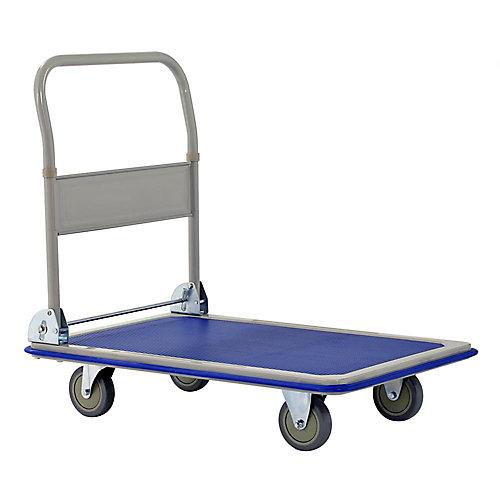 Chariot à plate-forme pliante robuste d'une capacité de 660 lb