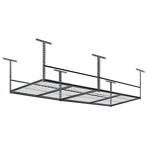 96 in. L x 48 in. W x 28 in. H Adjustable Ceiling Mount Storage Rack