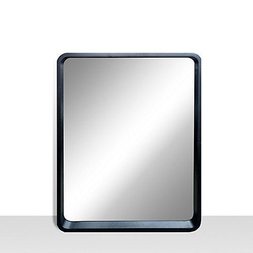 Harmony, Satin Black Vanity Mirror with Rounded corners 25 inch x 31 inch