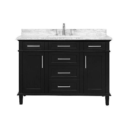 Sonoma 48-inch Black Single Sink Vanity