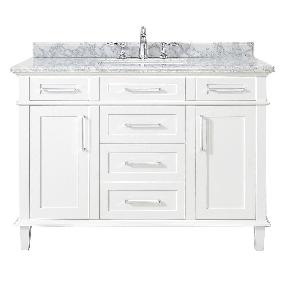Home Decorators Collection Sonoma 48-inch White Single Sink Vanity
