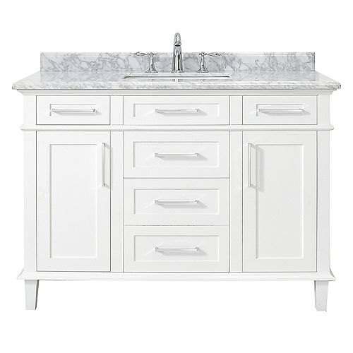 Sonoma 48-inch White Single Sink Vanity