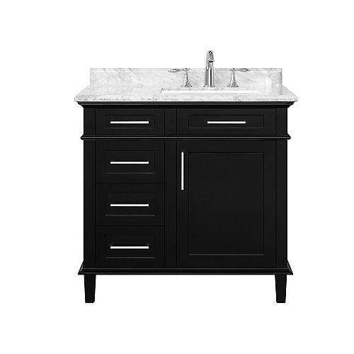 Sonoma 36-inch Black Single Sink Vanity
