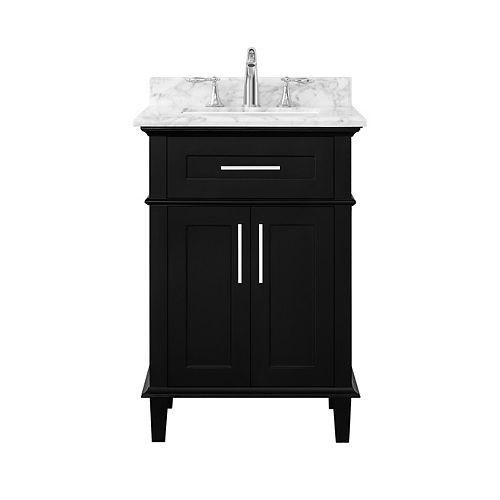 Sonoma 24-inch Black Single Sink Vanity