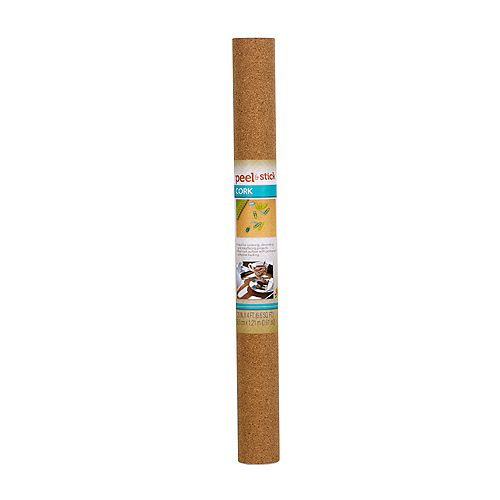 EasyLiner 20 inch X4 ft.  Peel And Stick Cork Taupe Shelf Liner