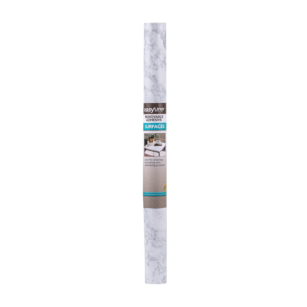 EasyLiner 20 inch X15 ft.  Peel And Stick White Marble Shelf Liner