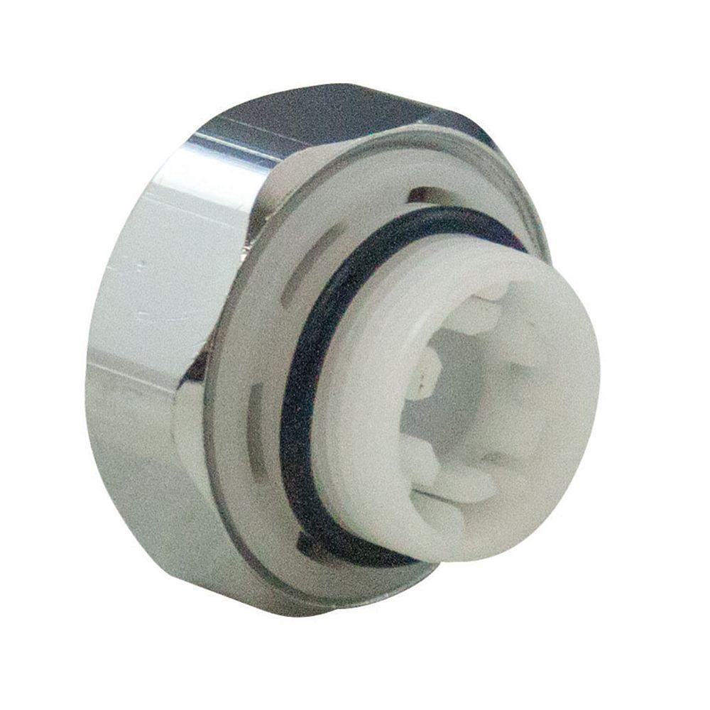 Aqua-Dynamic Vacuum Breaker Kit Chrome Cap 6 sided for 1104 series quarter-turn frost-frees