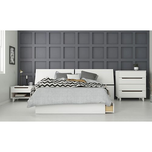 Nuage 4 Piece Full Size Bedroom Set, White