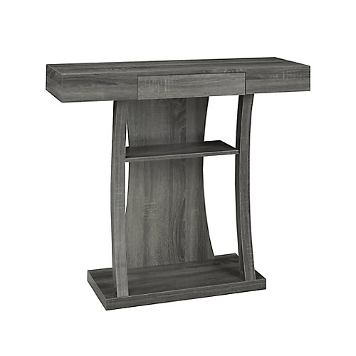 Console Table with Storage, Grey