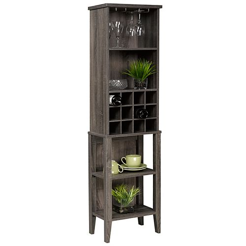 Multi-Tier Wine Bar, Grey