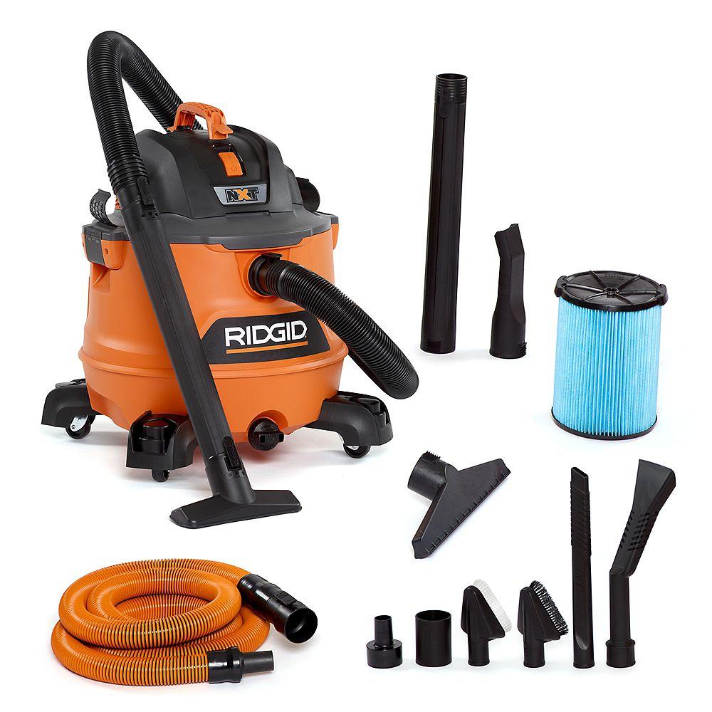 RIDGID NXT 53L (14 Gal.) 6.0 Peak HP Wet Dry Vacuum with Auto Detailing Kit