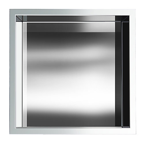 12 in. x 12 in. Stainless Steel Shower Niche in Polished Chrome by JAG