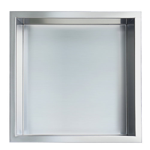 12 in. x 12 in. Stainless Steel Shower Niche in Brushed by JAG