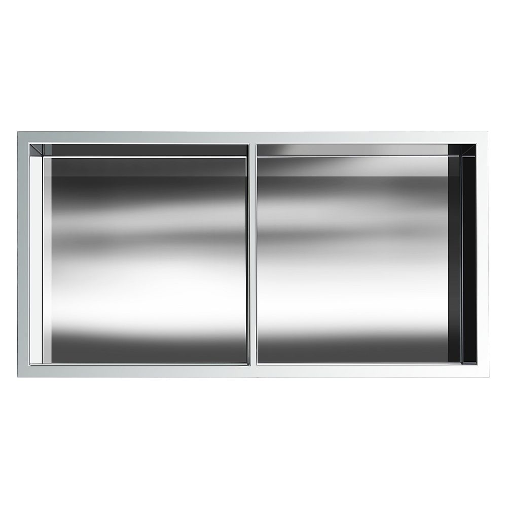 Jag Plumbing Products 12 in. x 24 in. Stainless Steel Shower Niche with Middle Shelf in Chrome