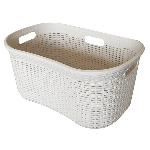 Modern Homes 40L Laundry Basket Ivory