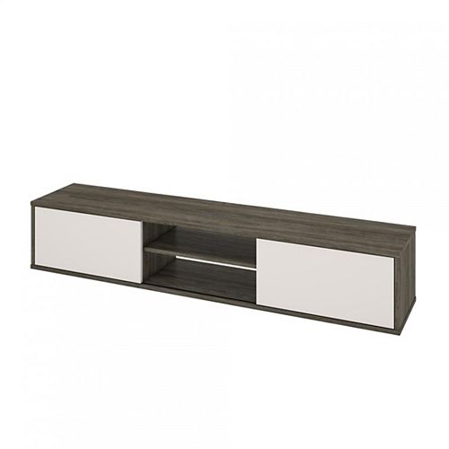 FOM Tv Stand in Walnut Grey & Sandstone