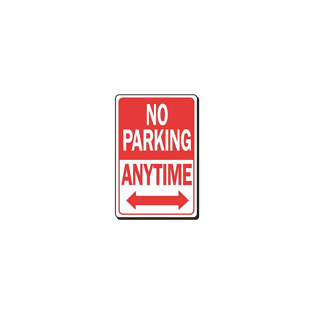 Hy-Ko 12 -inch X 18 -inch No Parking Anytime Heavy-Duty Sign