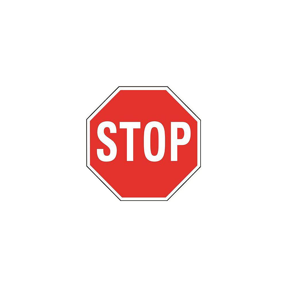 Hy-Ko Panneau d'arrêt rouge en aluminium de 18 po pour service intensif