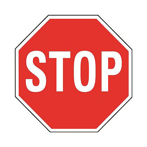 Red Heavy-Duty 18-inch Aluminum Stop Sign