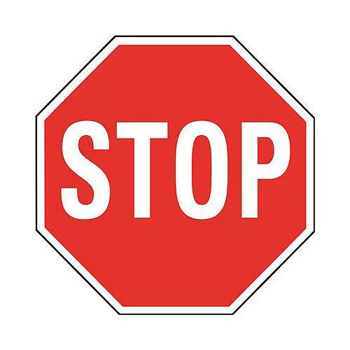Panneau d'arrêt rouge en aluminium de 18 po pour service intensif