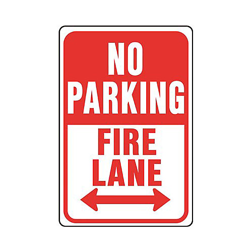 12 -inch X 18 -inch Aluminum No Parking Fire Lane Sign