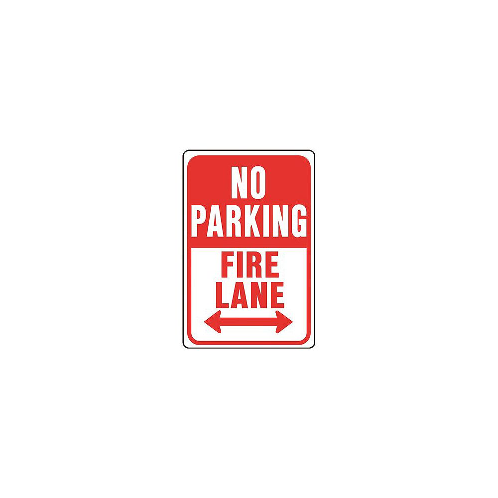 Hy-Ko 12 -inch X 18 -inch Aluminum No Parking Fire Lane Sign