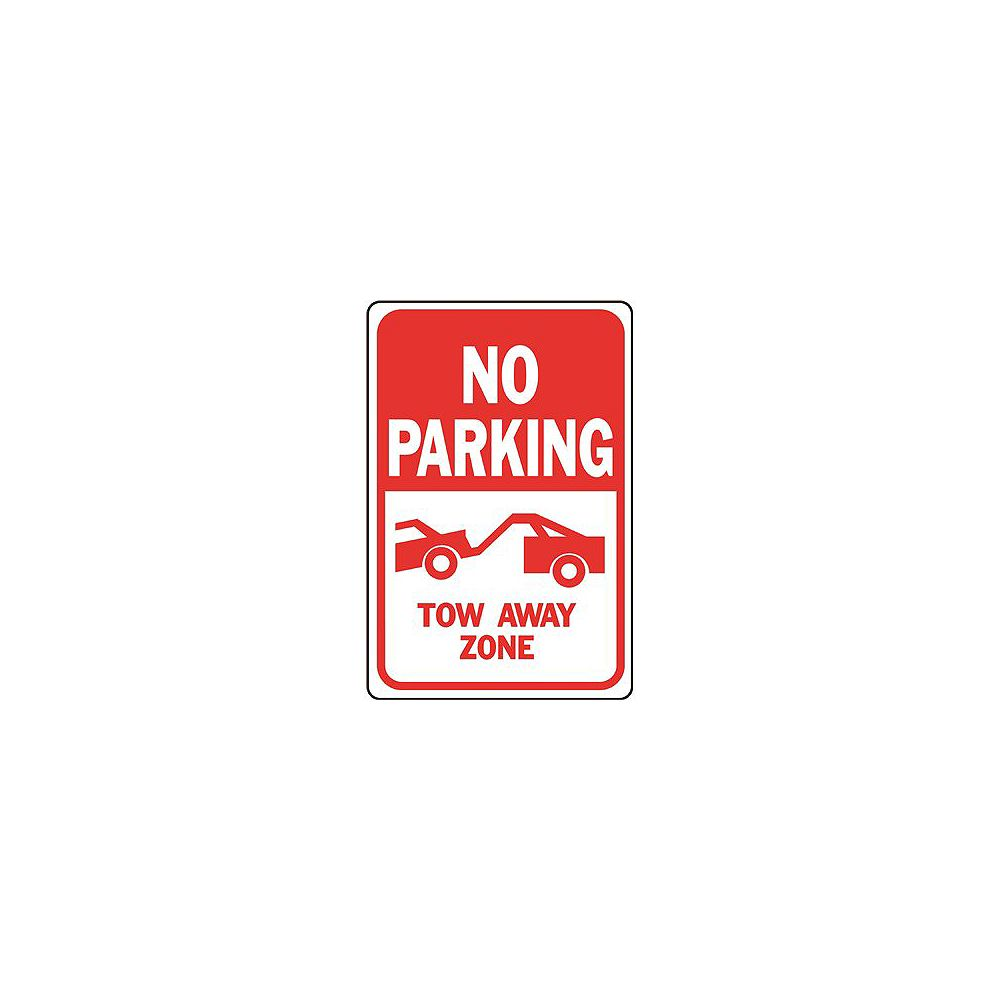 Hy-Ko 12 -inch X 18 -inch Aluminum No Parking Tow Away Zone