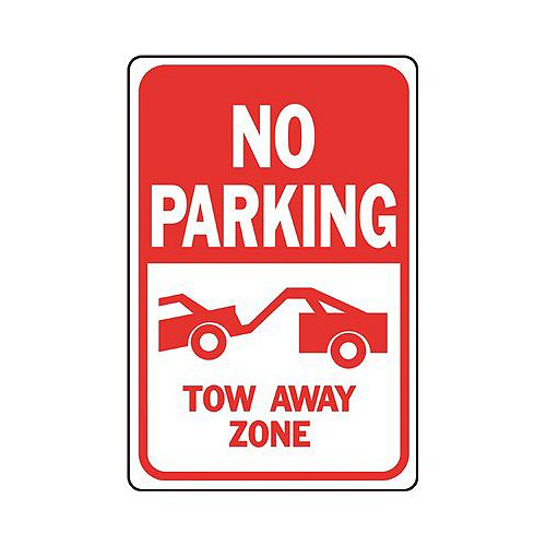 12 -inch X 18 -inch Aluminum No Parking Tow Away Zone