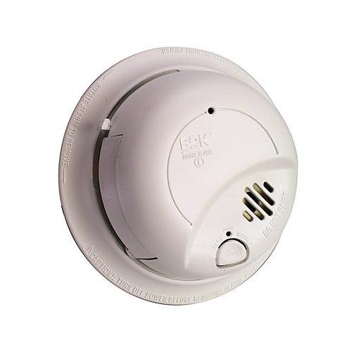 Détecteur d'alarme de fumée à détecteur de fumée à ionisation câblé 120 V Montage parfait avec batterie de secours