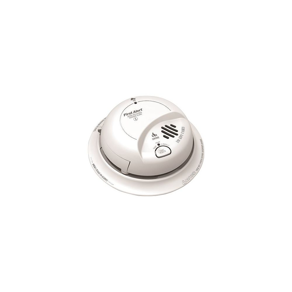 BRK Hardwired Interconnected Smoke And Co Alarm With Battery Backup