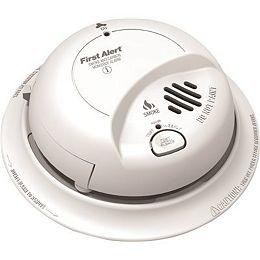 Alarme de fumée et de cokéfaction interconnectée câblée avec batterie de secours