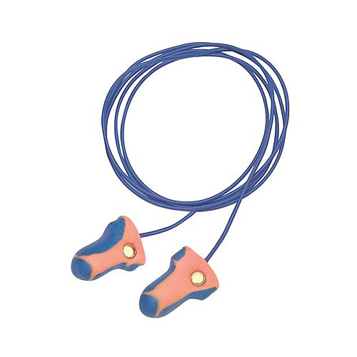 Laser Trak High Visual And Metal Detectable Earplugs Corded (100 per box)