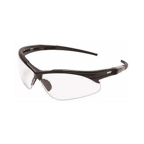 Legendforce Anti-Fog Safety Glasses, Black Frame, Clear Lens