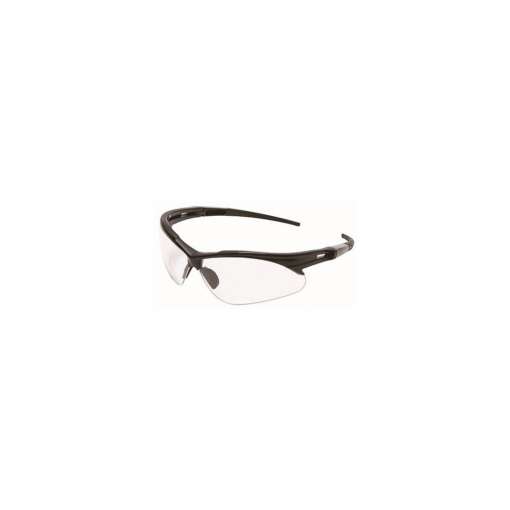 Legend Force Legendforce Anti-Fog Safety Glasses, Black Frame, Clear Lens