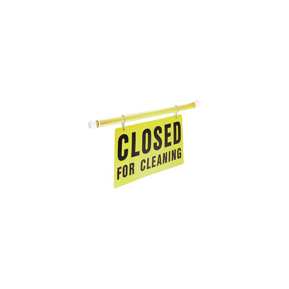 IMPACT PRODUCTS Adjustable Length Closed For Cleaning Safety Sign