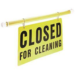 Affiche De Sécurité À Longueur Variable Closed For Cleaning d'Impact Products