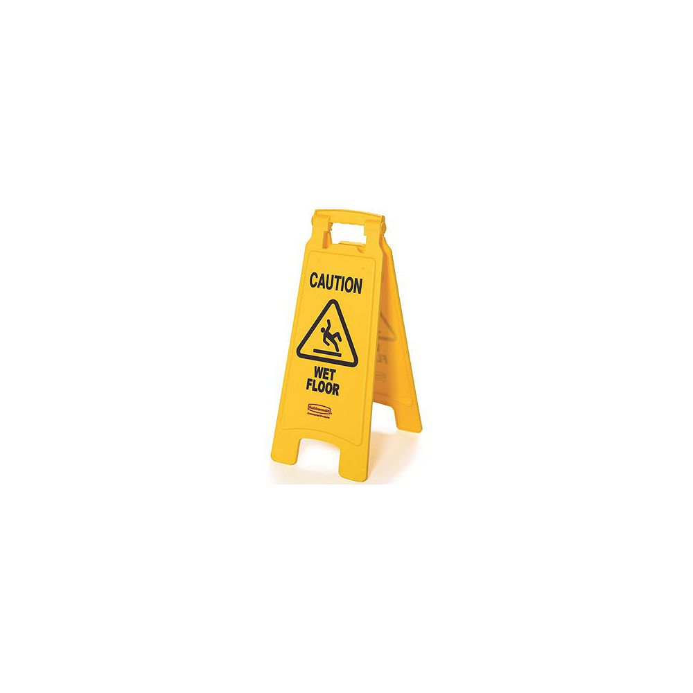 Rubbermaid Commercial Products 25 -inch X 11 -inch Plastic 2-Sided Caution Wet Floor Sign