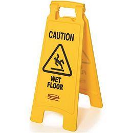25 -po X 11 -Panneau de plancher mouillé en plastique de 25 po X 11 po à 2 côtés avec avertissement
